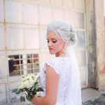 Platinum Blonde bride hair and makeup Shawna Demaline Wauseon, Ohio