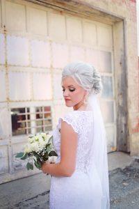 Platinum Blonde bride hair and makeup Shawna Demaline Wauseon, Ohio
